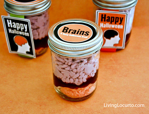 Brains In a Jar Halloween Wedding Favor Ideas