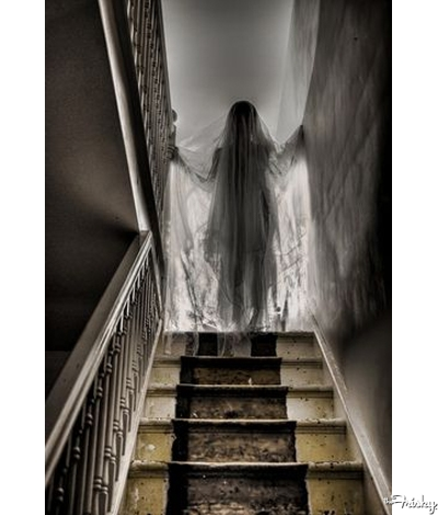 Ghost Lady Halloween Wedding Decoration Ideas