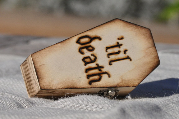 Halloween Wedding Ideas - Til Death Ring Box
