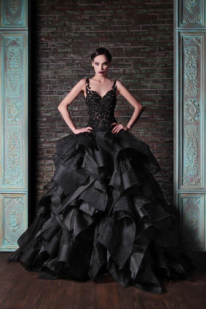 Halloween Wedding Ideas Black Gothic Wedding Dress