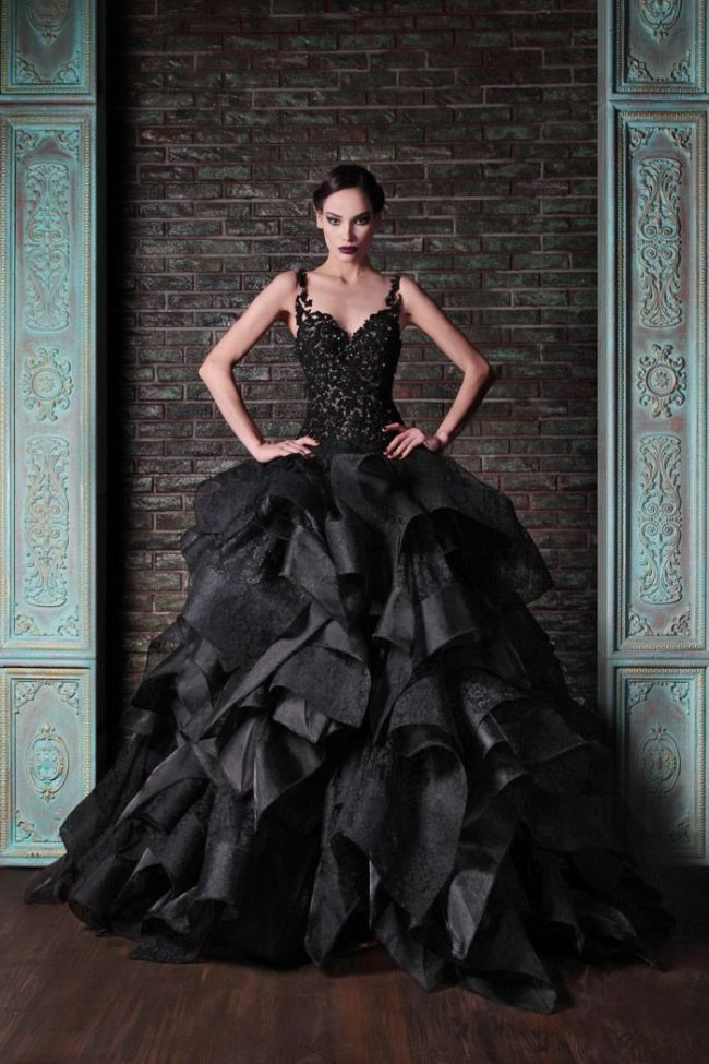 Halloween Wedding Ideas Black Gothic Wedding Dress