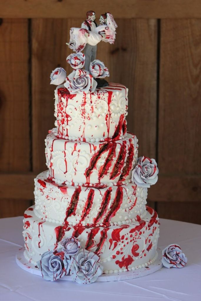Halloween Wedding Ideas Bloody Cake