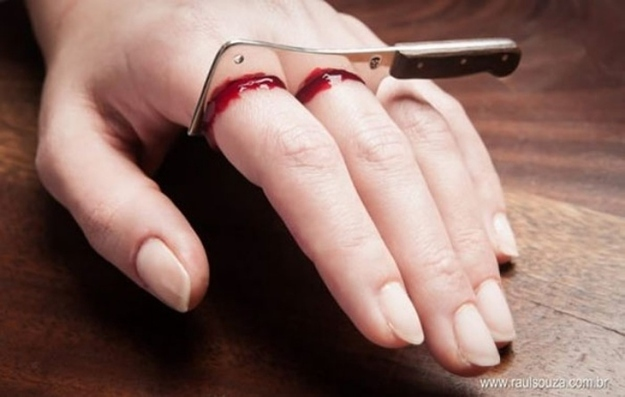 Halloween Wedding Ideas Cleaver Ring
