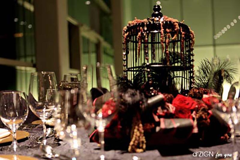 Halloween Wedding Ideas Goth Birdcage Centerpiece