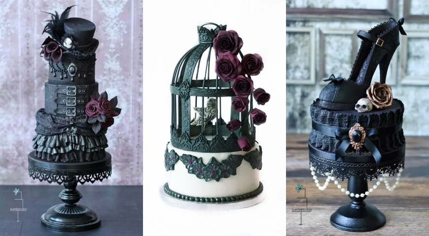 Halloween Wedding Ideas Goth Cakes