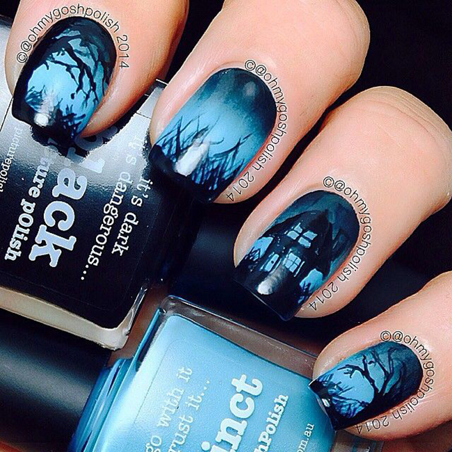 Halloween Wedding Ideas Goth Nail Art