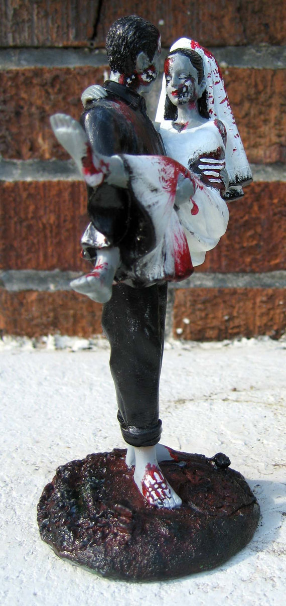 Halloween Wedding Ideas Zombie Cake Topper