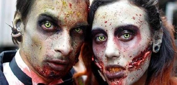 Halloween Wedding Ideas Zombie Ball Make Up