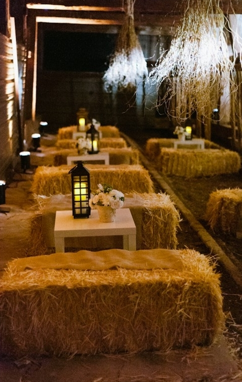 Spooky Rustic Romantic Barn Halloween Wedding Decoration Ideas