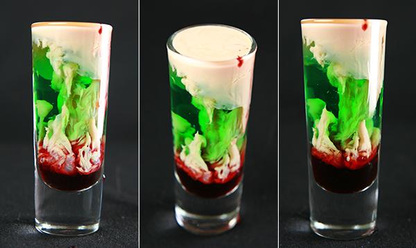 Zombie Brain Hemorrhage Halloween Wedding Cocktail Ideas