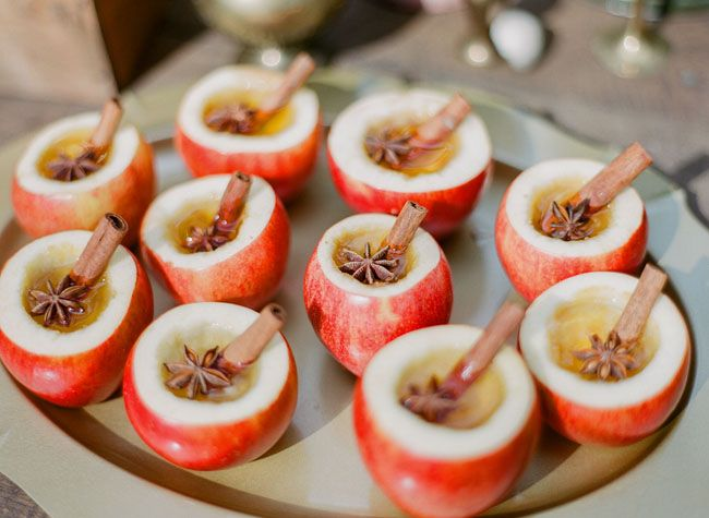 Apple Cider Mini Apple Fall Wedding Ideas