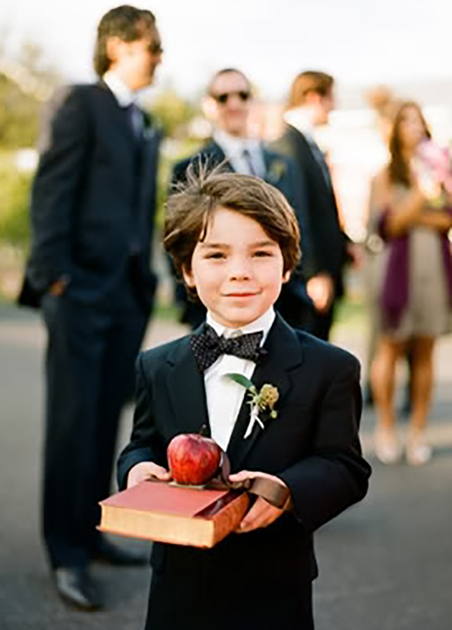 Apple Ring Bearer Fall Apple-Themed Wedding Ideas