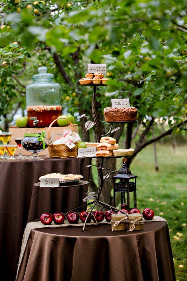 Apple Treat Table Fall Apple-Themed Wedding Ideas