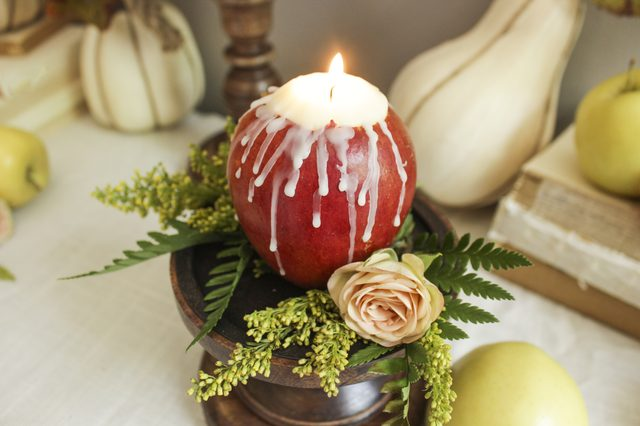 Apple Candles Autumn Wedding Ideas