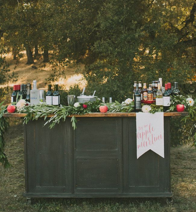 Bar Apple Decoration Fall Wedding Ideas