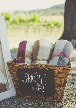 Blanket Wedding Favor Fall Wedding Idea