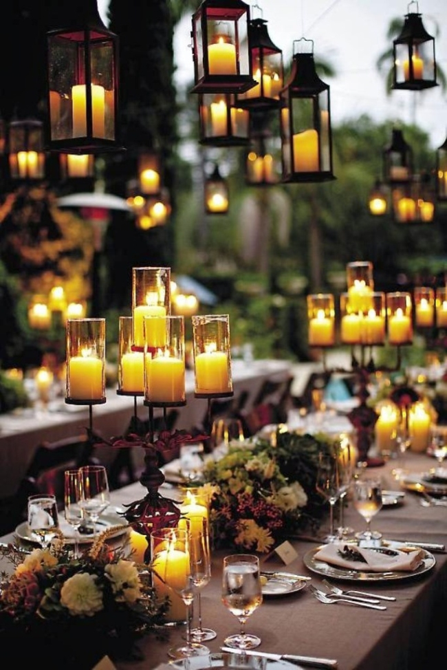 Candlelight Halloween Wedding Decoration Ideas