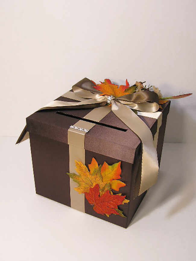 Gift Card Box Fall Wedding Idea