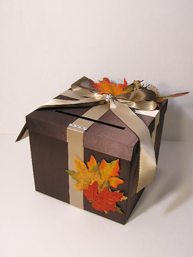 Gift Card Box Fall Wedding Idea