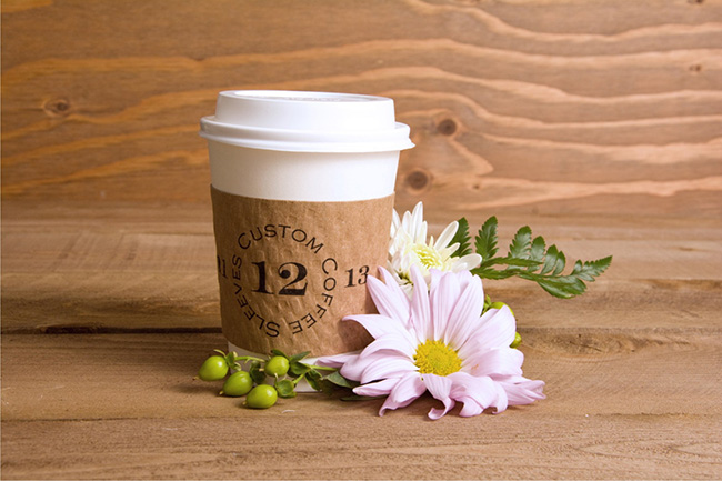 Custom Tea and Coffee Sleeves Winter Wedding Favors