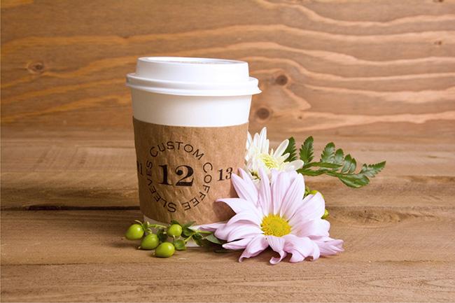 Custom Tea and Coffee Sleeves Winter Wedding Favors