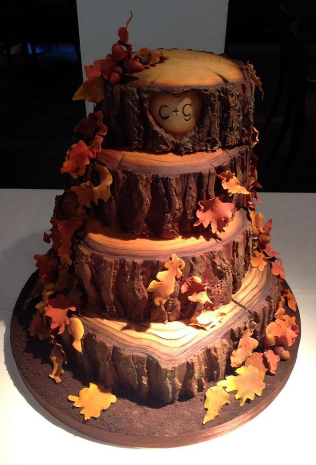 Fall Wedding Cake Idea