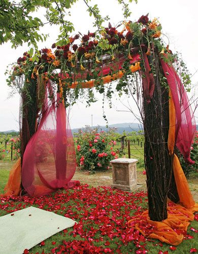 Fall Wedding Ceremony Arch