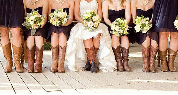Fall Wedding Country Boots Idea