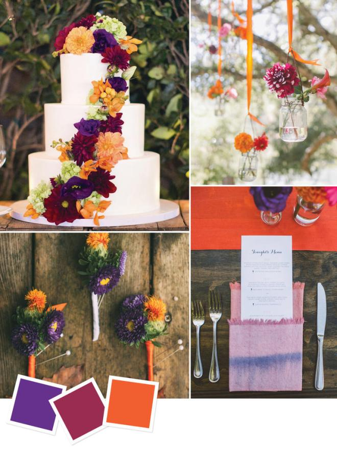 Fall Wedding Dark Vibrant Color Palette