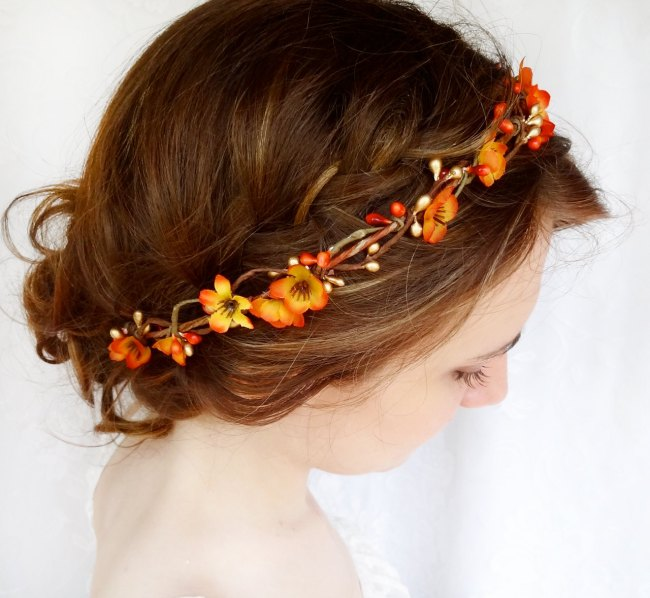 Fall Wedding Hairstyles With Flower Crown: 50 Reasons Why Fall Is Our Favorite Wedding Season