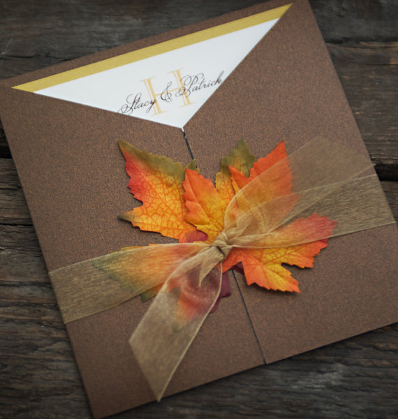 Fall Wedding Invitation Idea