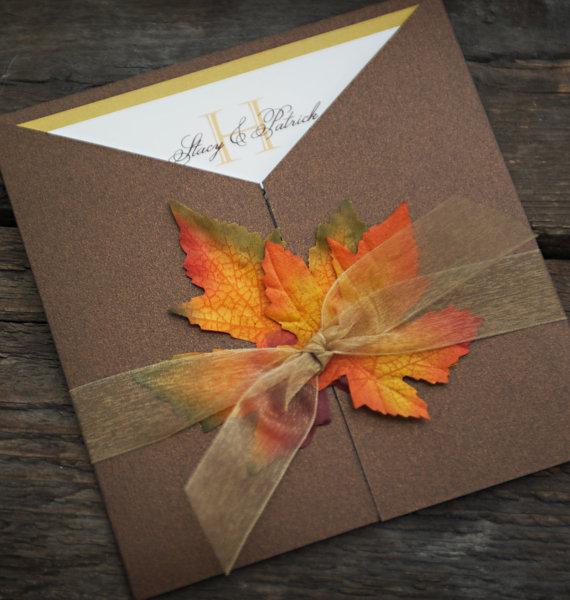Fall Wedding Invitation Idea
