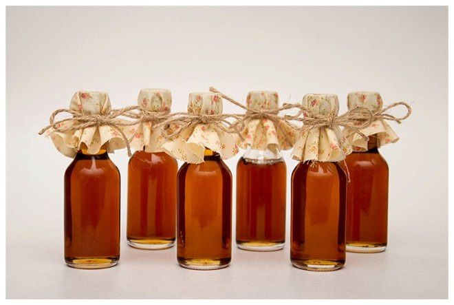 Fall Wedding Maple Syrup Favors