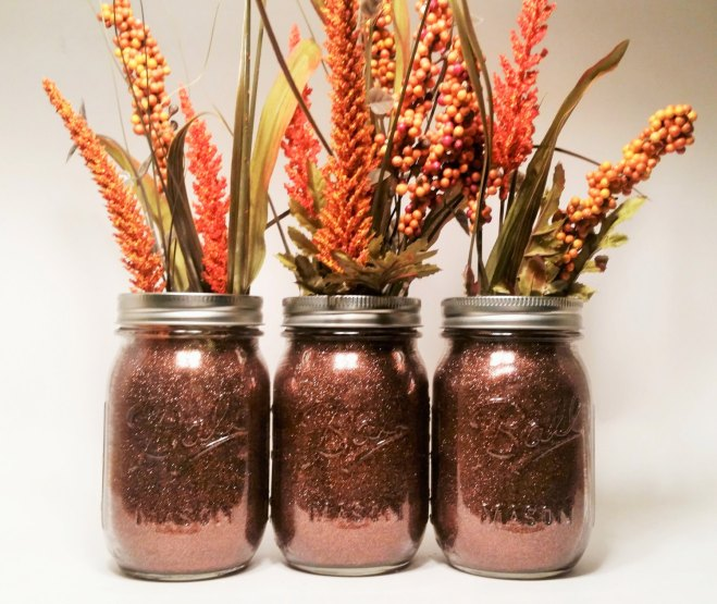 Fall Wedding Mason Jar Centerpiece
