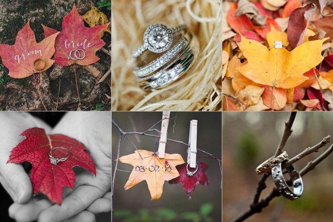 Fall Wedding Ring Photo Idea