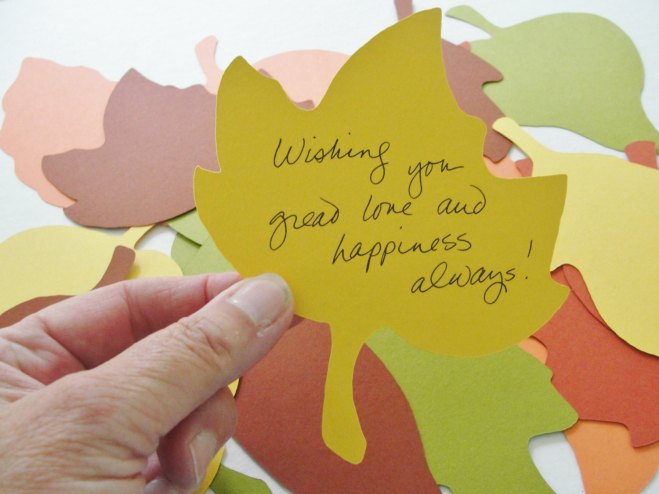 Fall Wedding Wish Leaves