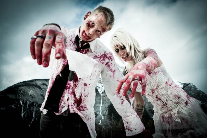 Zombie Halloween Wedding Photoshoot