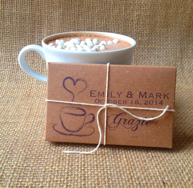 Hot Chocolate Packages Winter Wedding Favors