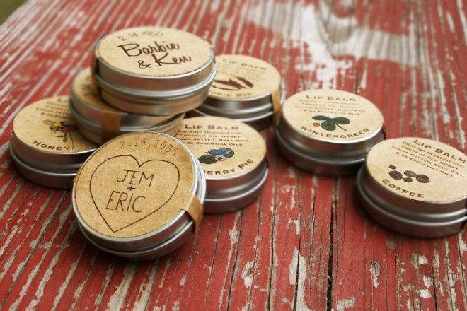 Lip Balm Winter Wedding Favors