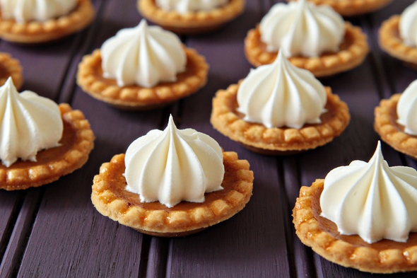 Mini Pumpkin Pies Fall Wedding Food Idea
