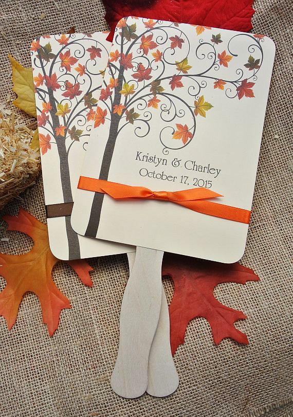 Paper Fan Wedding Favor Fall Wedding Idea