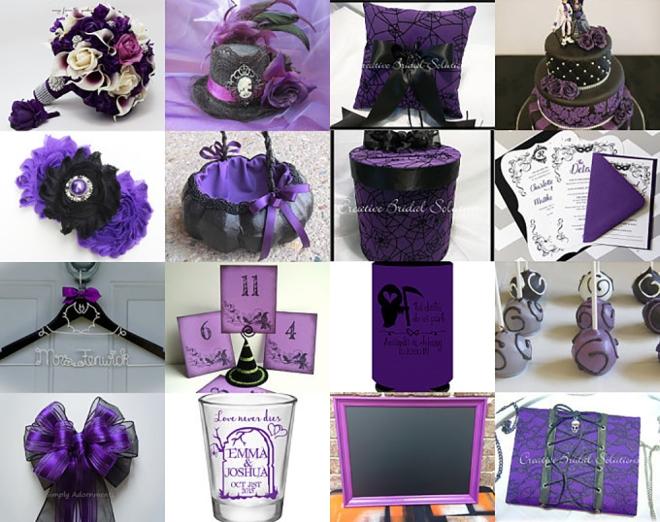 Pretty in Purple Halloween Wedding Etsy Treasury