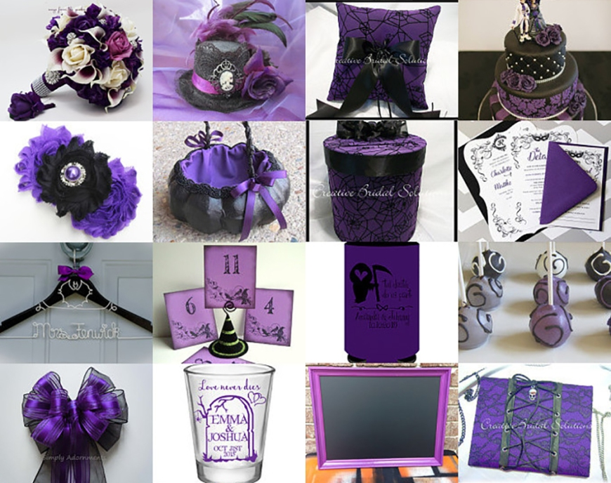 Pretty in Purple Halloween Wedding Etsy Treasury