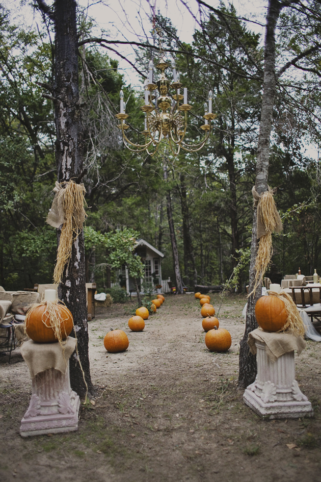 Pumpkin Aisle Fall Wedding Idea