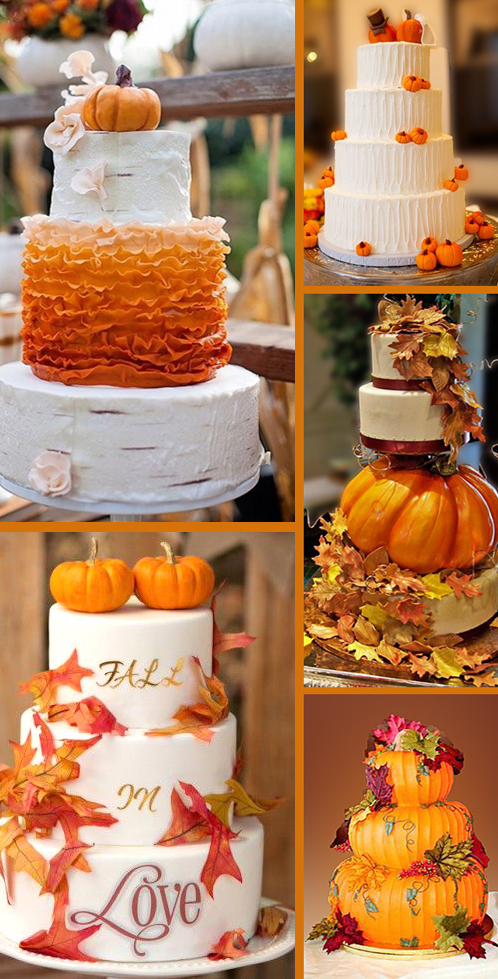 Fall Pumpkin Themed Wedding Cake Ideas