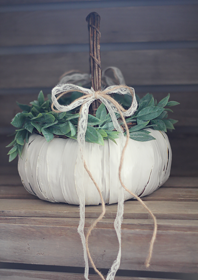 Pumpkin Flower Girl Basket Fall Wedding Idea