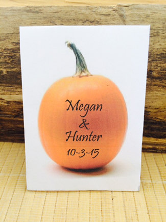 Pumpkin Seed Fall Wedding Idea