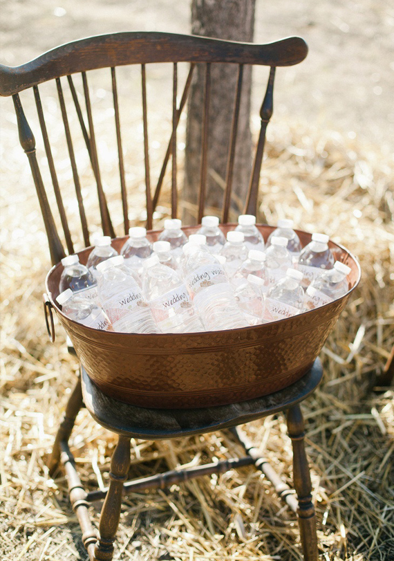 Water Refreshments Fall Wedding Idea