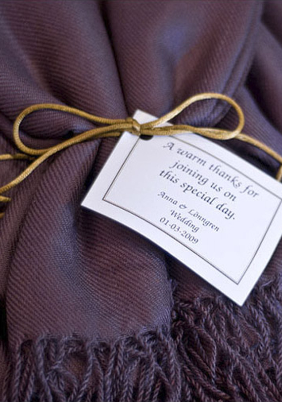 Scarf Wedding Favor Fall Wedding Idea