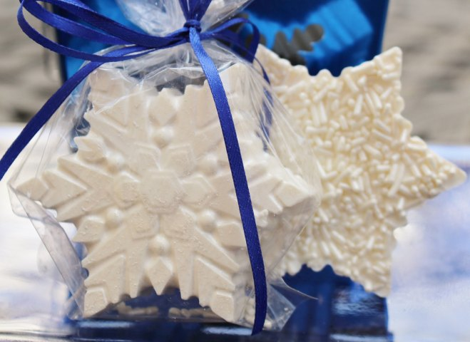 Snow Flake Chocolate Cookies Winter Wedding Favors